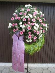 Trauerkranz rosa/weiss