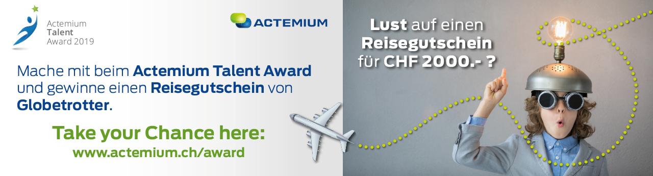 Actemium, Talent, Award, Reisegutschein