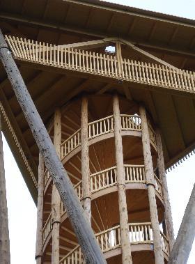 oberste Stufen und Aussichtsplattform Wiler Turm