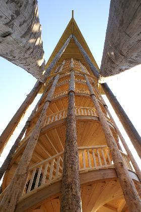 doppelte Wendeltreppe Holzturm Wil
