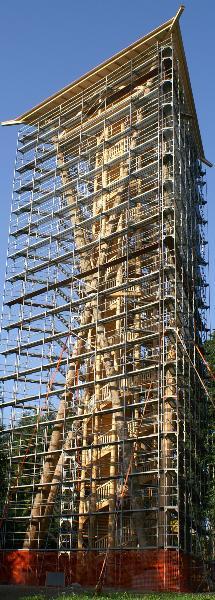 Aussichtsturm Wil mit Baugerüst 2006