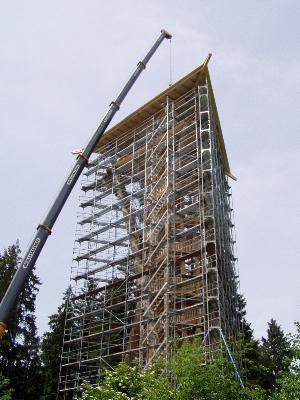 Montage Dach Wiler Aussichtsturm