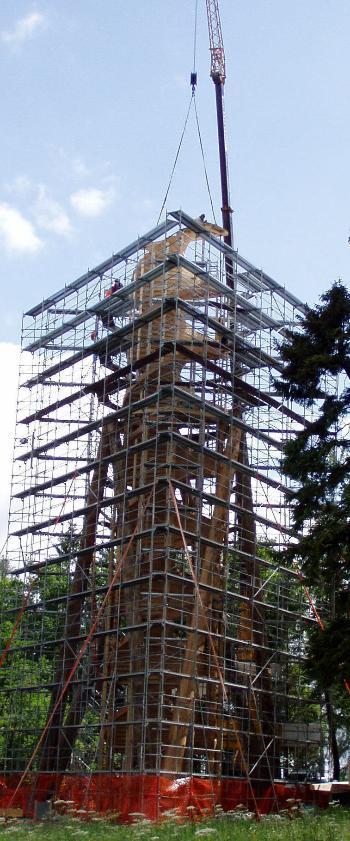 Bauarbeiten am Wiler Aussichtsturm