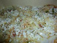 Käsemasse auf Kartoffeln