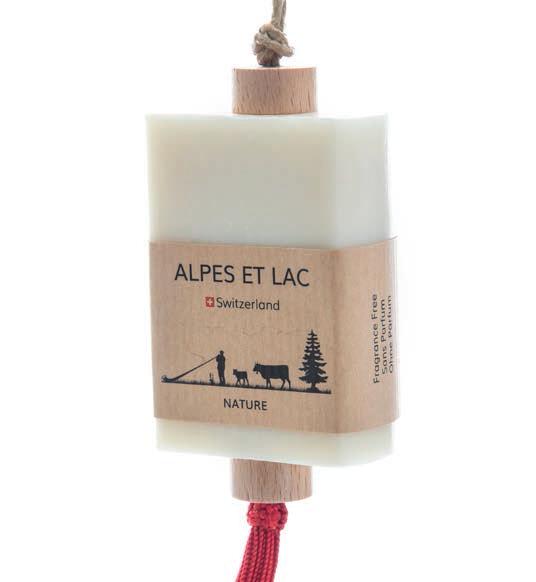 Savons avec différentes senteurs  Made in Switzerland  Autres produits Alpes et Lac disponibles