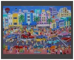 Miami Art Deco / Canvas 50x70cm