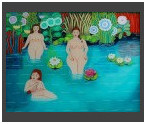 Bathing Beauties/ Glass 60x80cm