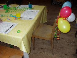 Geburtstagsstuhl