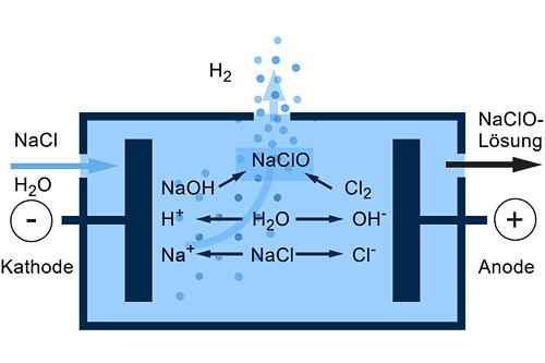 Prinzip der Elektrolyse bei der Selcoperm SES