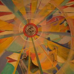 aug-und m-und (acryl-leinwand) 60x60 cm