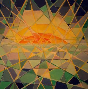 rengenbogenwonne (acryl-leinwand) 80x80 cm
