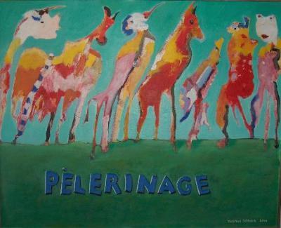 pèlerinage (acryl/malkarton) 82x65 cm