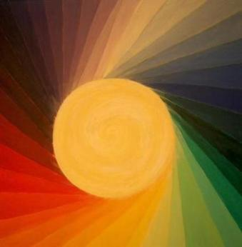 regenbogenwonne (acryl/leinwand) 80x80 cm