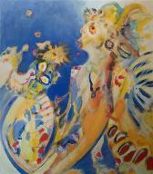 carneval  (acryl-leinwand)  80 x 70 cm