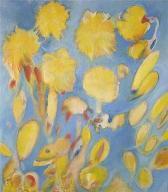 yellow spots  (acryl-leinwand)  70 x 60 cm