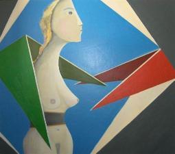 farbig & spitzig  (acryl-leinwand)  70 x 80 cm