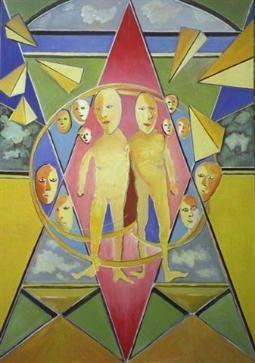 extraterriestrier  (acryl-leinwand)  140 x 100 cm