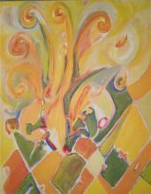 verzaubertes gelb  (acryl-leinwand)  100 x 80 cm