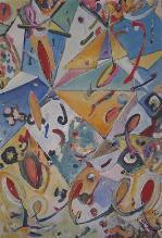 universum der farben  (acryl-malkarton)  80 x 55 cm
