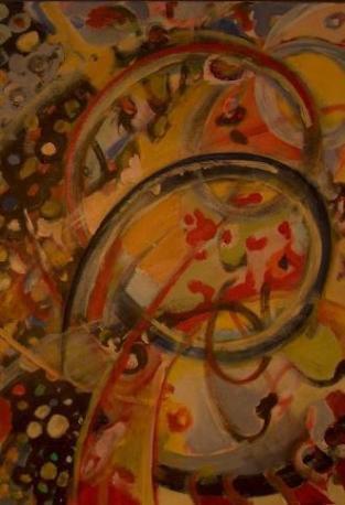 immer weiter (acryl/leinwand) 70x50 cm