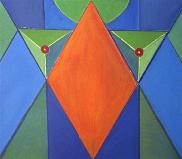 la famme éternelle  (acryl-leinwand)  60 x 70 cm