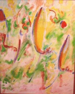 beschwingte farbe  (acryl - malkarton)  75  x 59 cm