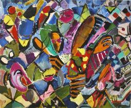 color power  (acryl - leinen)  70 x 89 cm