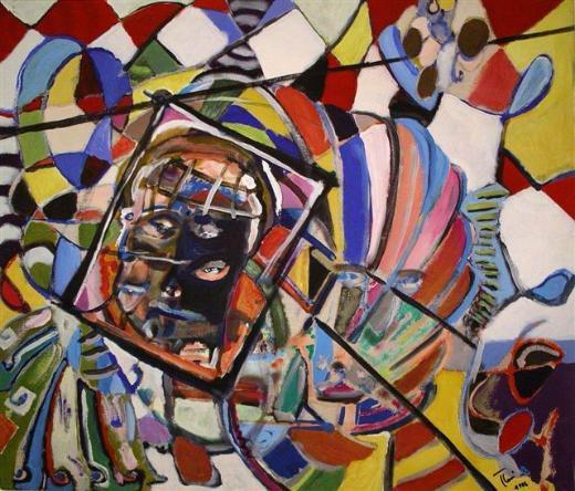 augenblick in bewegung  (acryl - leinwand)  60 x 70 cm