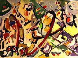 farbenspiel XXXIV   (gouache - papier)  32 x 41 cm