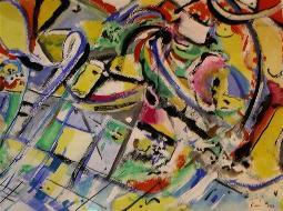 farbenspiel  XXXVII  (gouache - papier) 24 x 34 cm