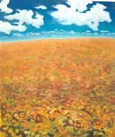 l'automne à lirac  (acryl - leinwand)  70 x 60 cm